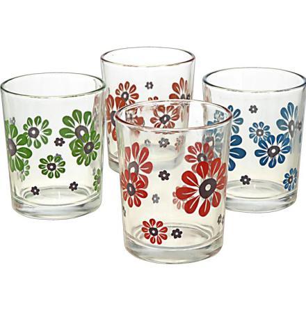 Dricksglas Flower 4-pack GLAS