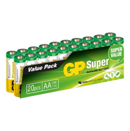 Batteri GP Super Alkaline AA 20 pack